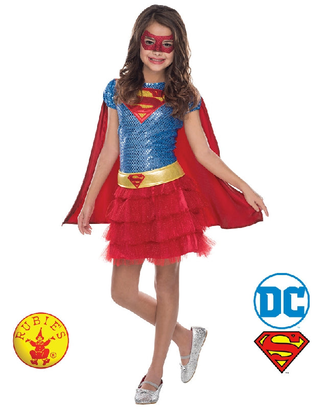 SuperGirl Sequin Tutu Dress Girls Costume - Size T, S, M