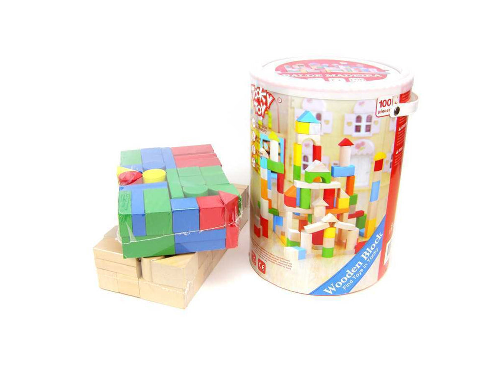 Building Blocks 100 Pieces in Bucket - Salsa and Gigi