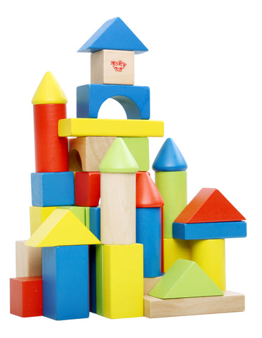 Wooden Blocks - 50 Pieces - Salsa and Gigi Online Store