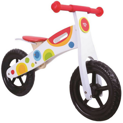 kids balance bike by tooky toy colourful design