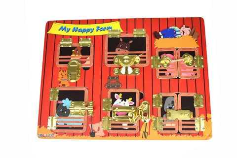 Toddler Latches Puzzle - My Happy Farm - Salsa and Gigi Australia ET200 01