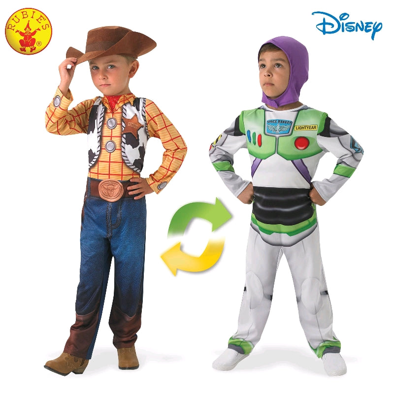 Toy Story Woody to Buzz Lightyear Reversible Deluxe Child Costume - Salsa and Gigi Australia 1940 01