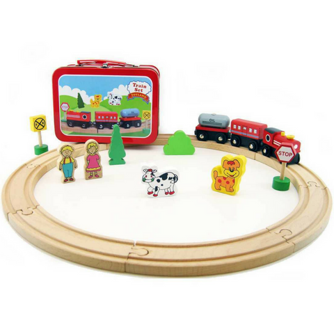 Wooden Train Set in Travel Carry Case - Salsa and Gigi