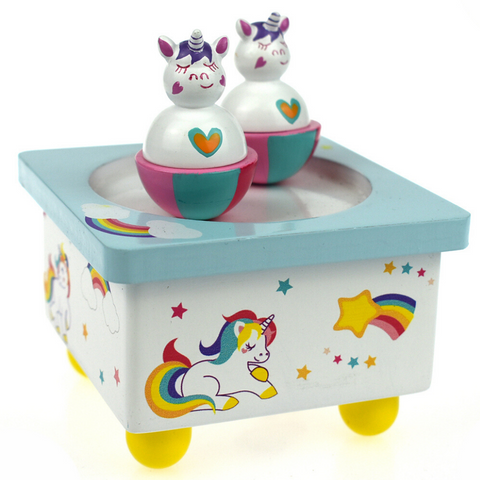 Unicorn and Rainbow Wind Up Music Box - Salsa and Gigi Australia MI127 01