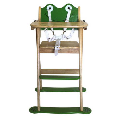 Frog Wooden High Chair for Babies and Toddlers - Salsa and Gigi