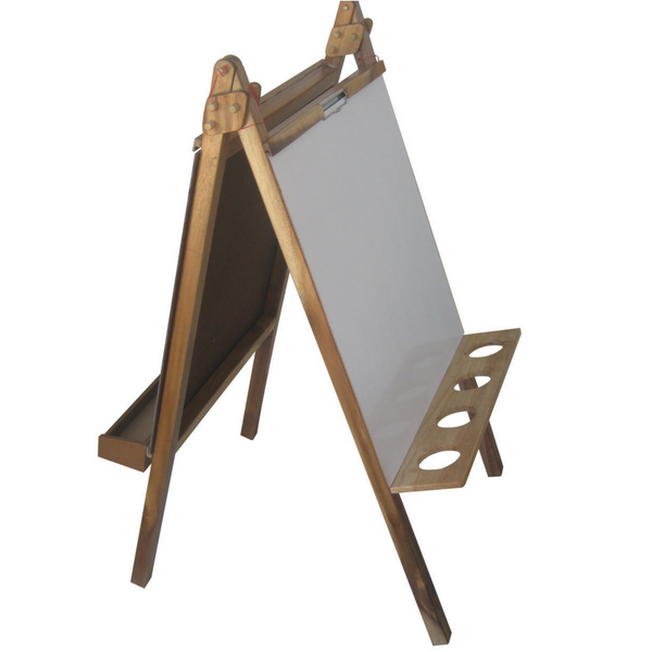 Activity Easel - Felt Chalk Magnetic Clip and White Board All in One - Salsa and Gigi