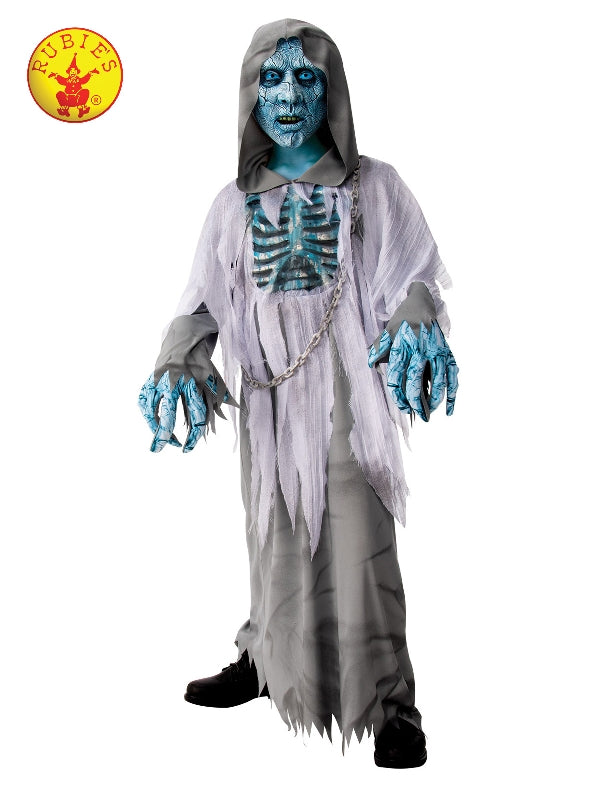 White Demon Hooded Robe Halloween Costume