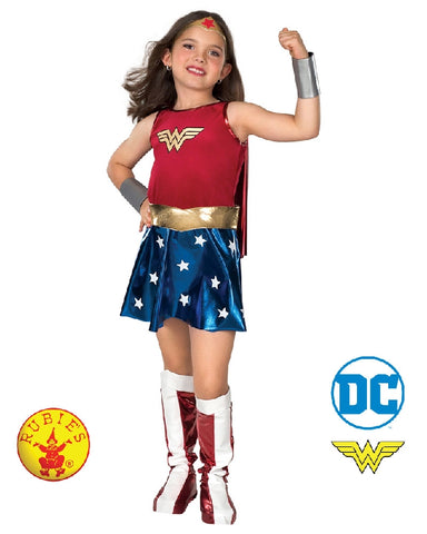 Woman Woman DC Superheroes Deluxe Girls Costume - Salsa and Gigi Australia