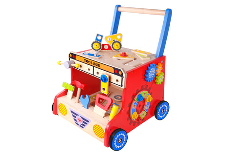 Wooden Tool Bus Toddler Walker - Salsa and Gigi Australia TKF093 01