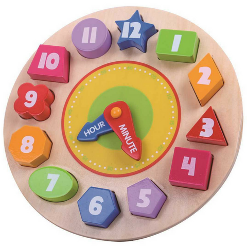 Wooden Clock Block Puzzle - Salsa and Gigi Online Store