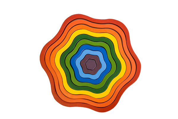 Wooden Rainbow Nesting & Stacking Flower - Salsa and Gigi Australia 01