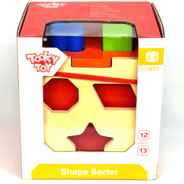 Wooden Shape Sorter by Tooky Toy - Salsa and Gigi