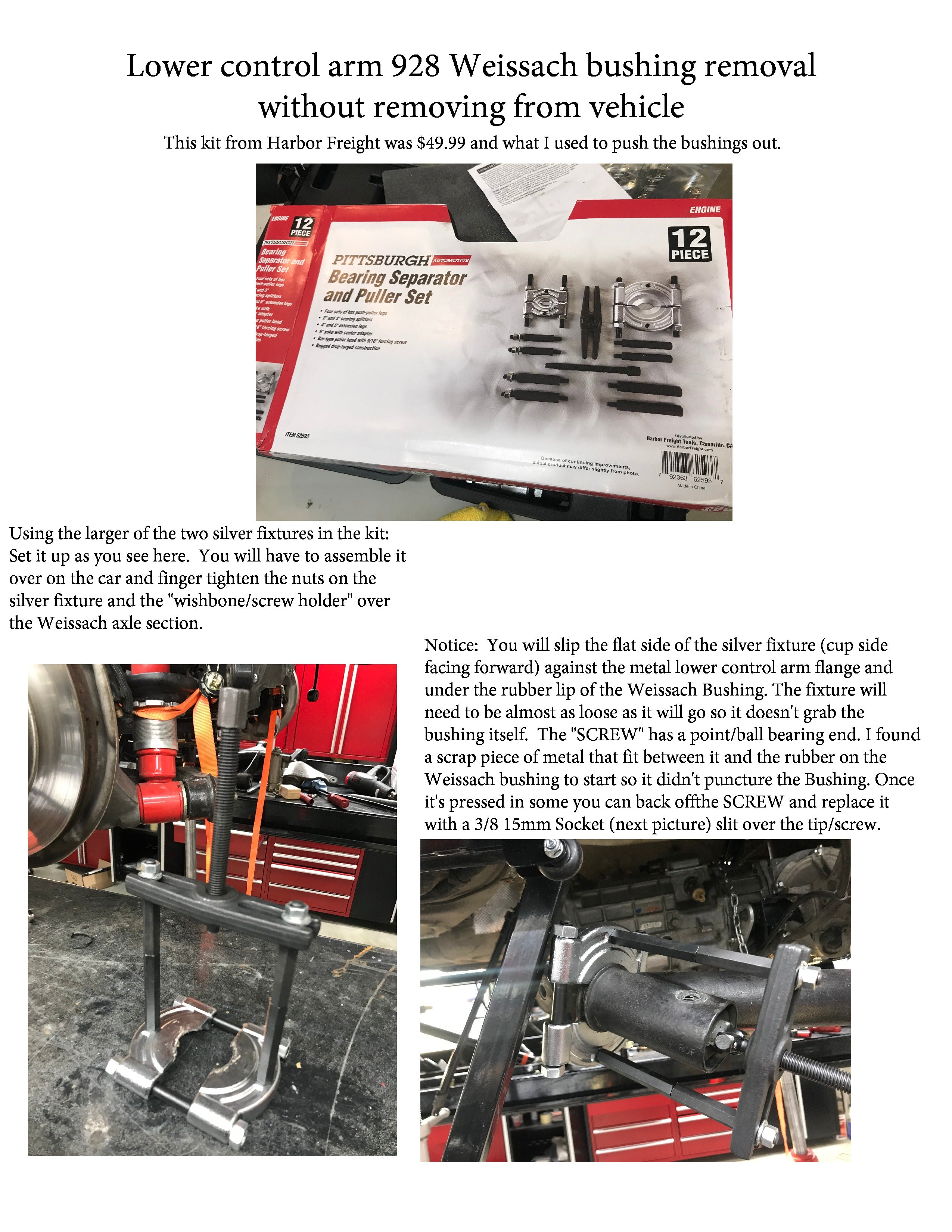 928 Weissach Bushing Removal on Car-page-0