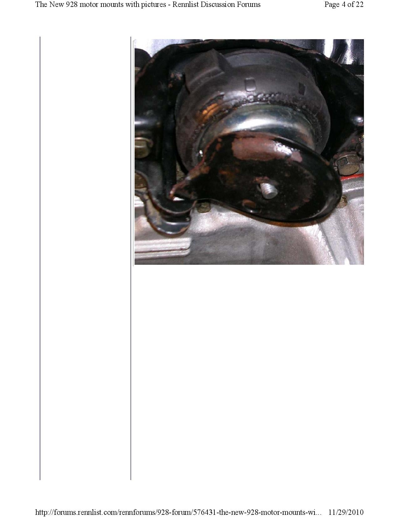 New 928 motor mounts with pictures pg4