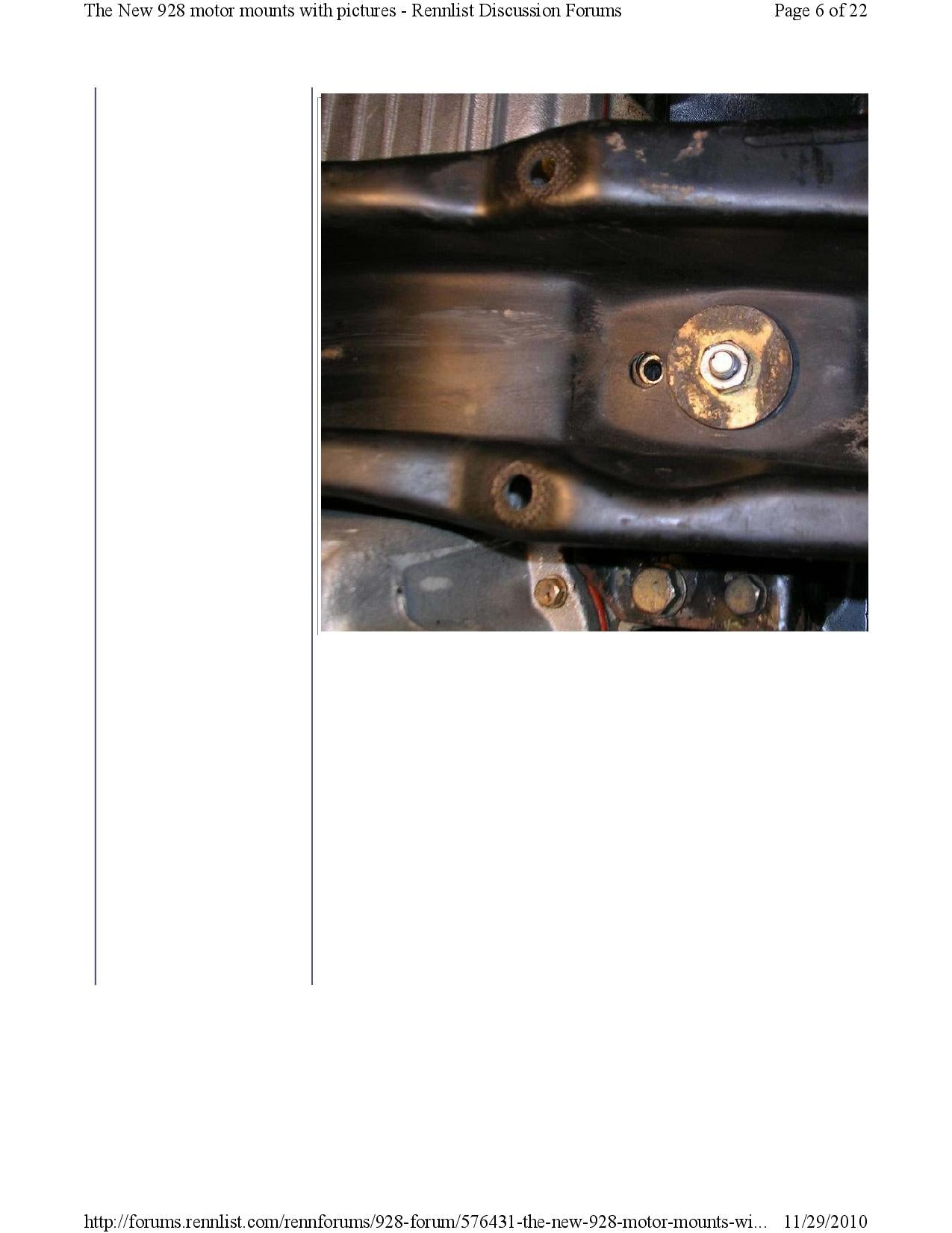 New 928 motor mounts with pictures pg6