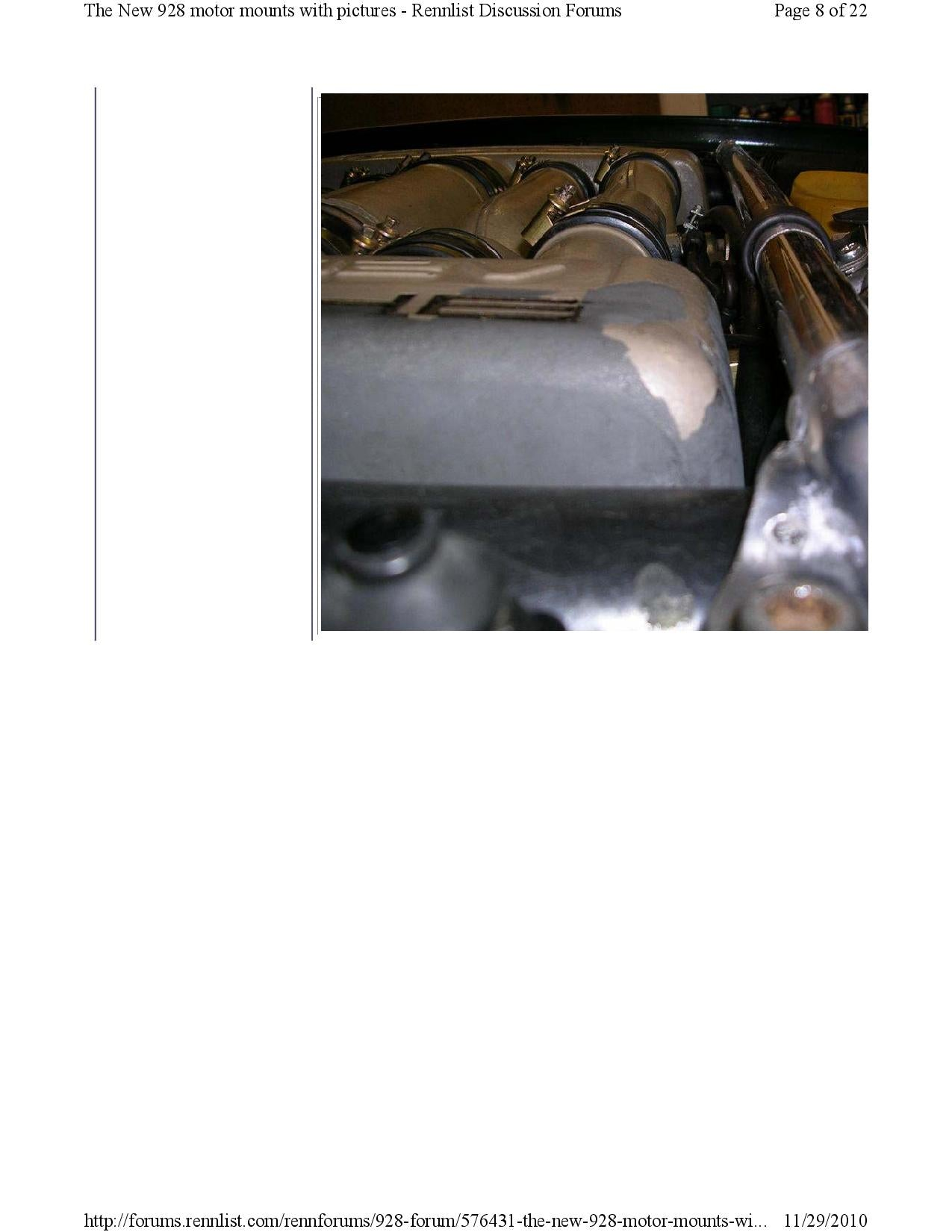 New 928 motor mounts with pictures pg8
