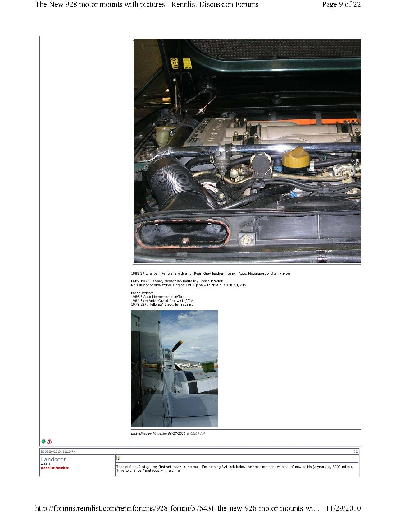 New 928 motor mounts with pictures pg9