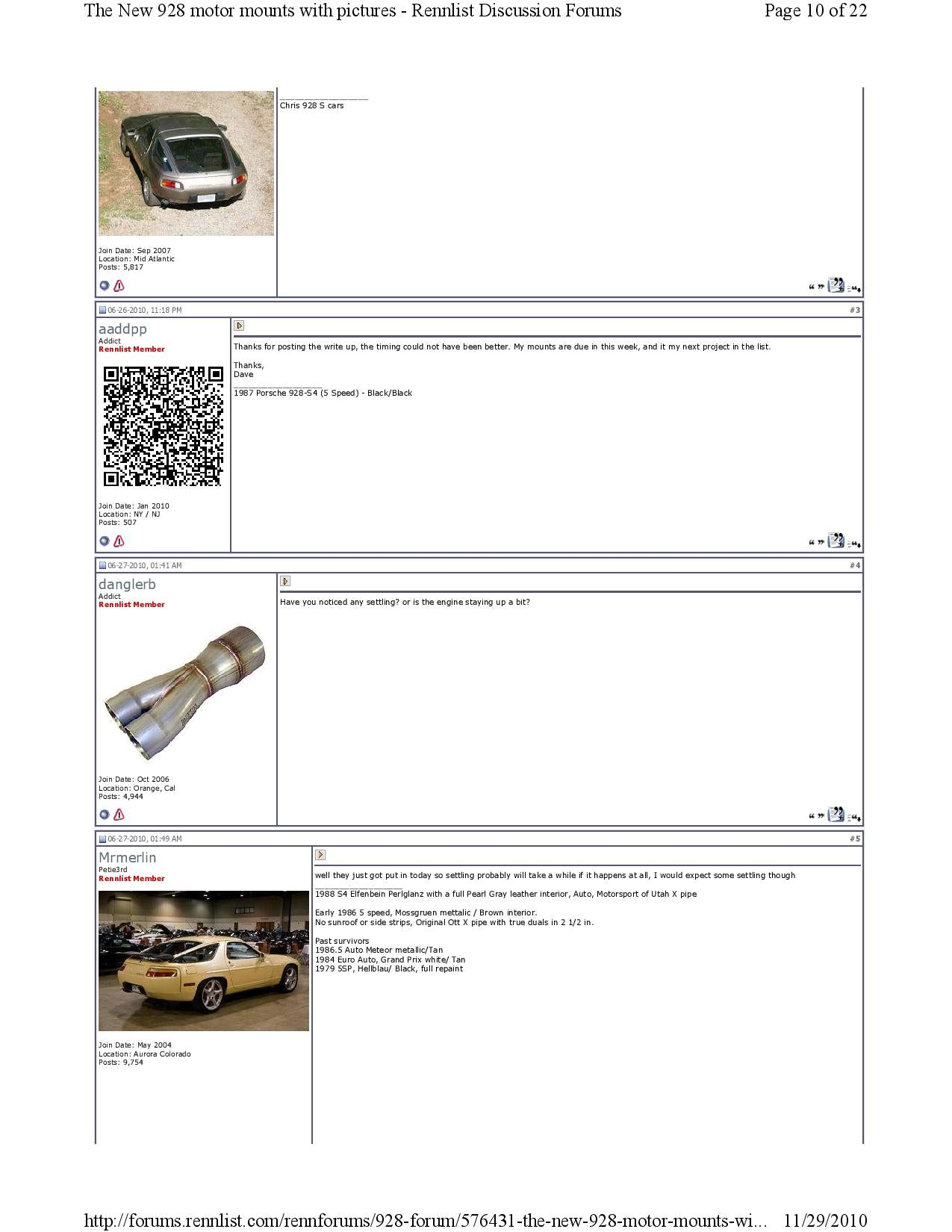 New 928 motor mounts with pictures pg10