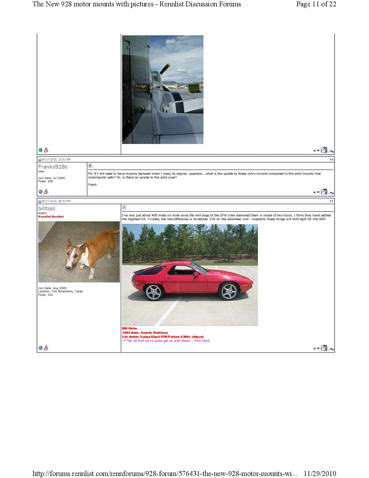 New 928 motor mounts with pictures pg11