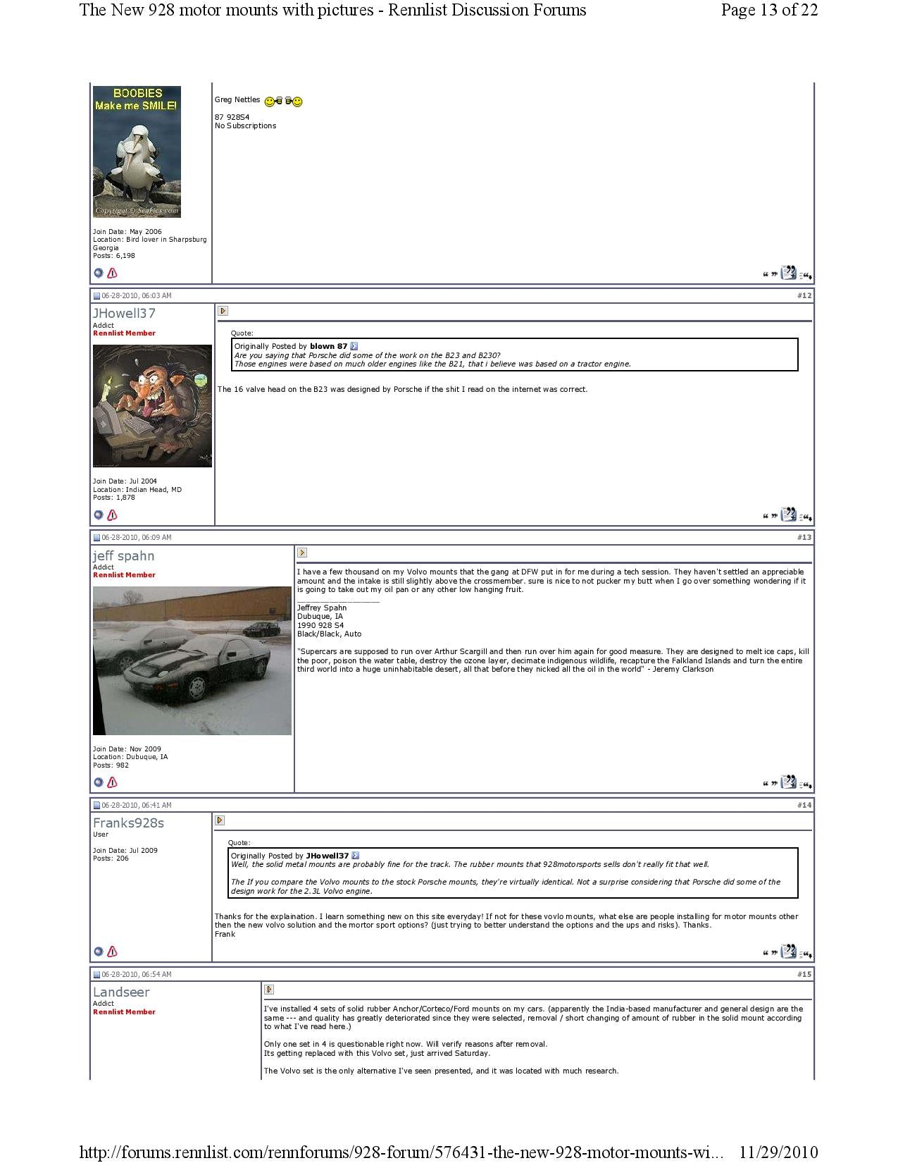 New 928 motor mounts with pictures pg13