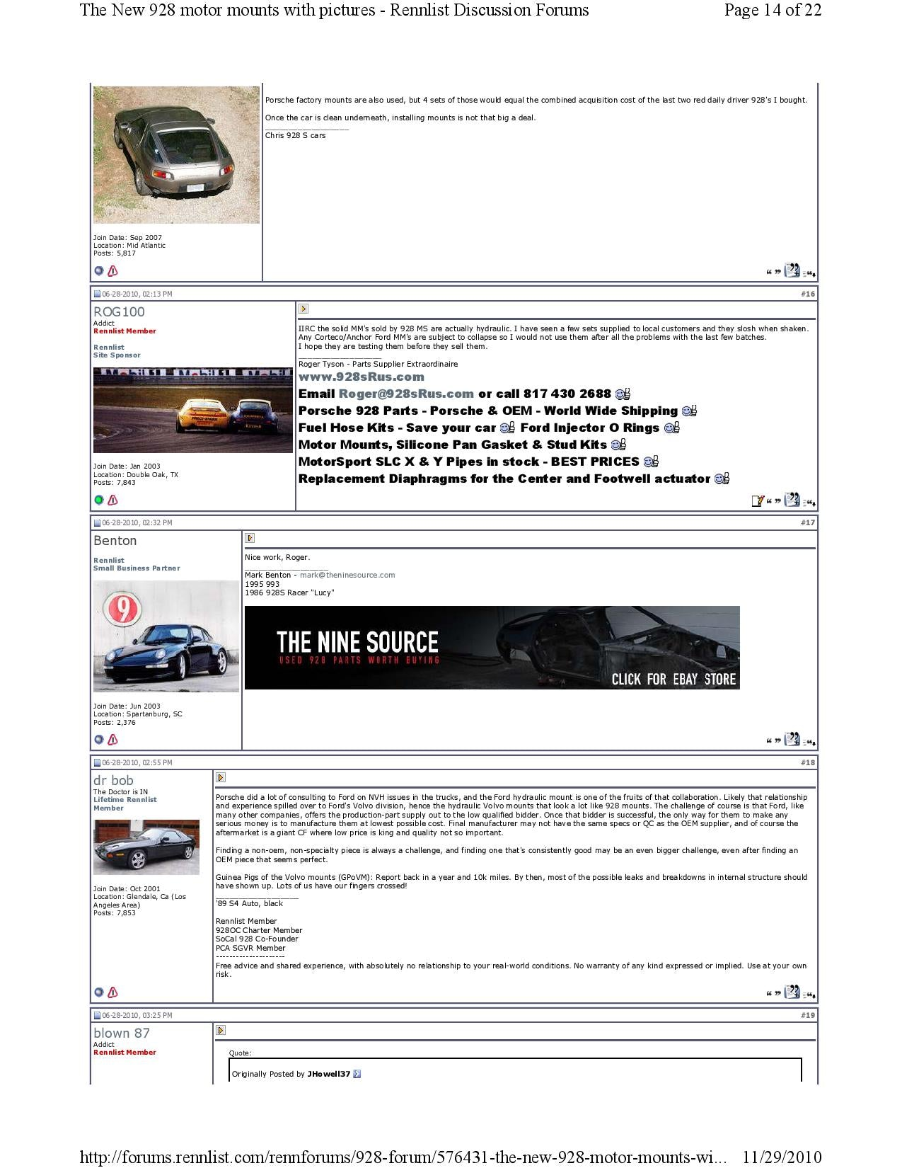 New 928 motor mounts with pictures pg14