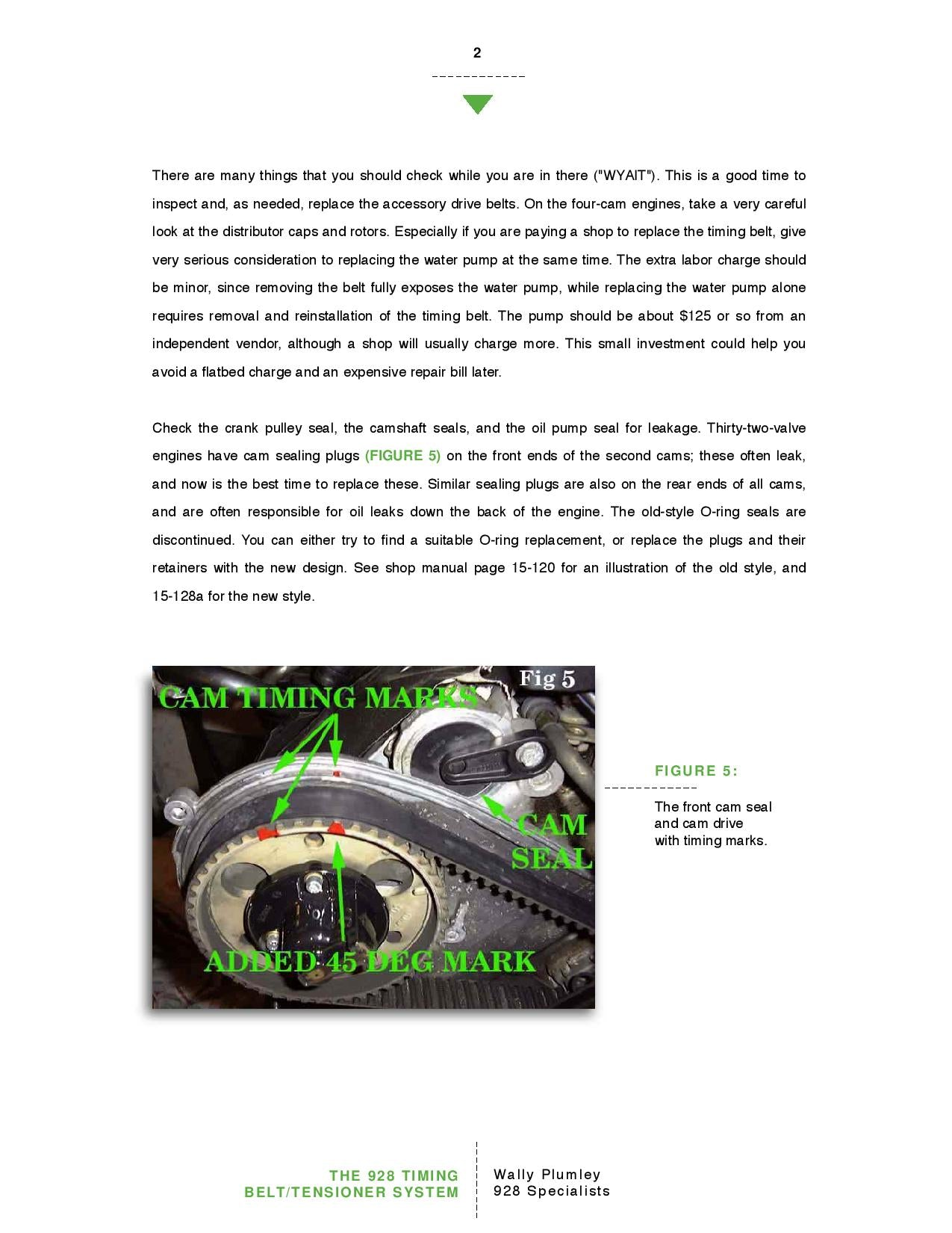 The 928 Timing Belt and Tensioner System pg2