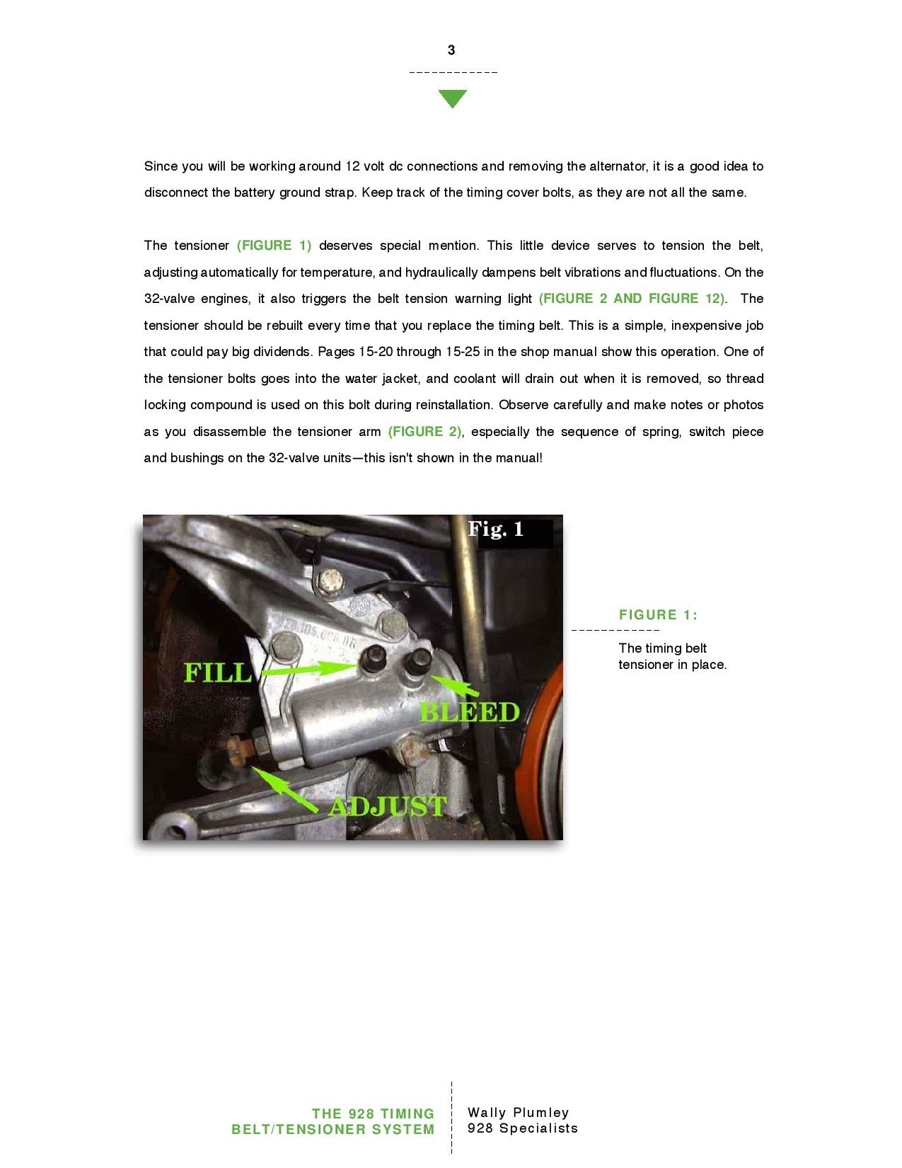 The 928 Timing Belt and Tensioner System pg3