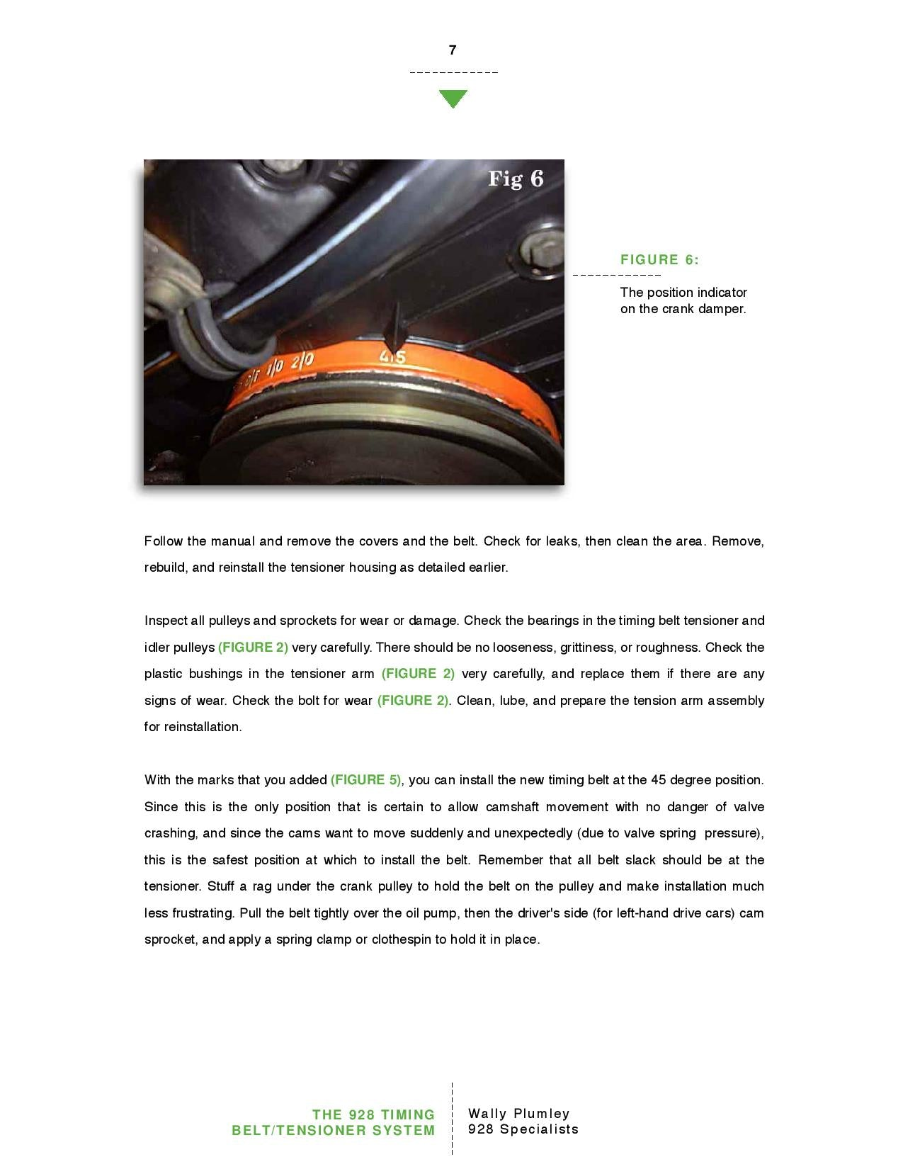 The 928 Timing Belt and Tensioner System pg7