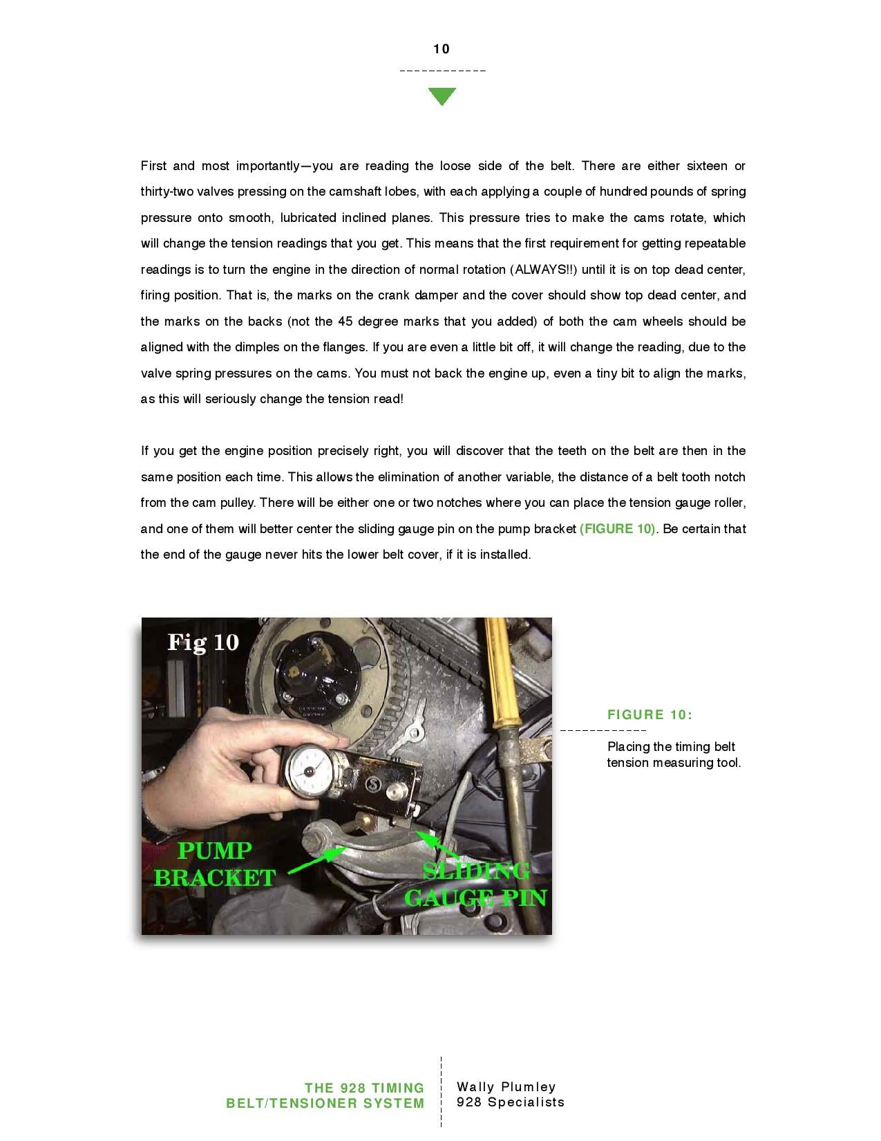 The 928 Timing Belt and Tensioner System pg10