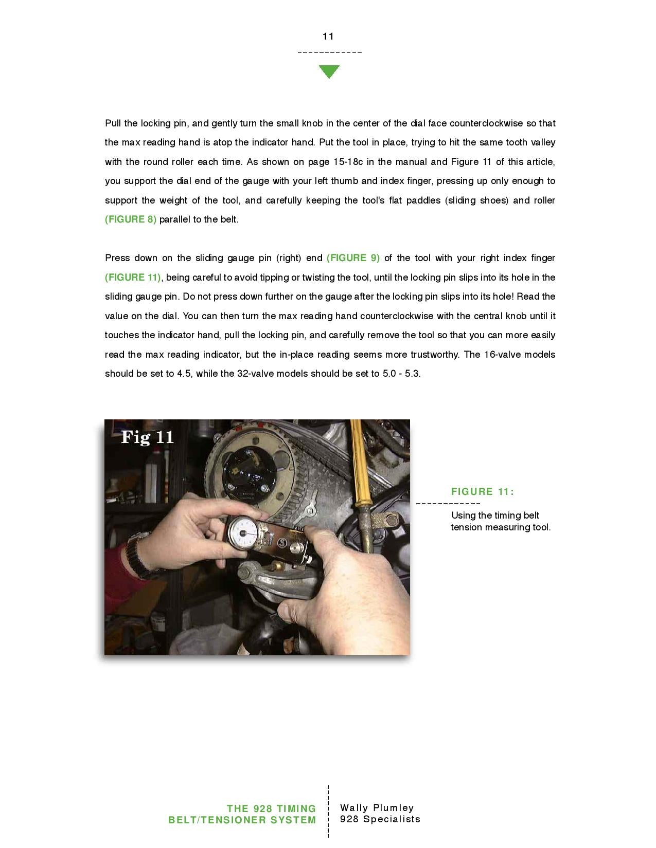 The 928 Timing Belt and Tensioner System pg11
