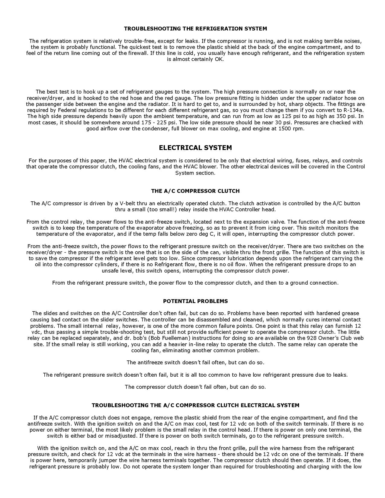 Troubleshooting the Refigeration System pg1