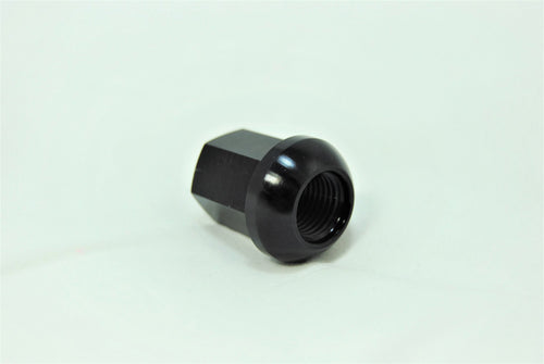 A black wheel nut for Porsche 928s.