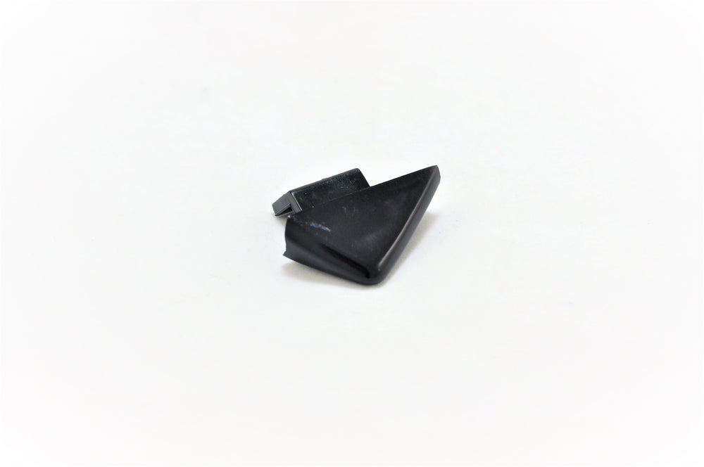 A right side plastic triangle wedge window guide for Porsche 928s.