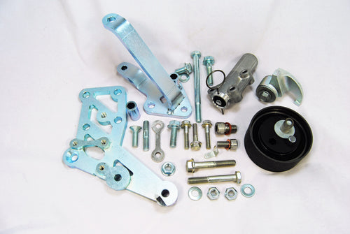 A porkentensioner bracket with full kit and air pump for Porsche 928s.