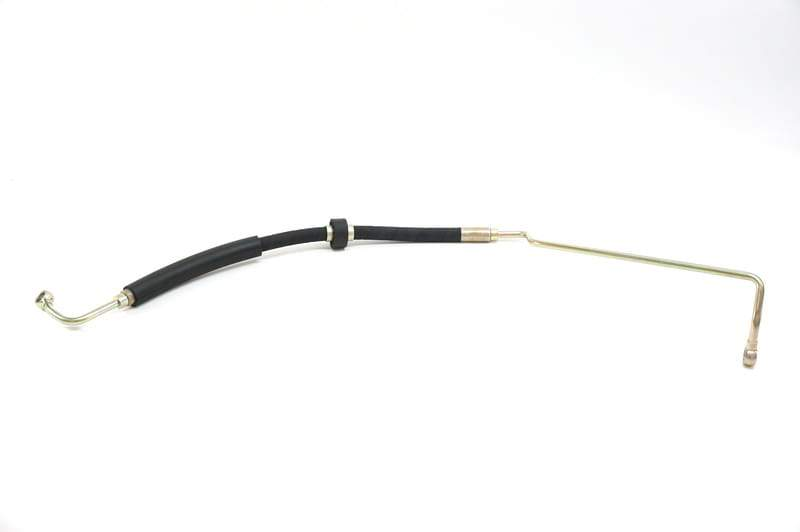 A high pressure line power steering hose for Porsche 928s.