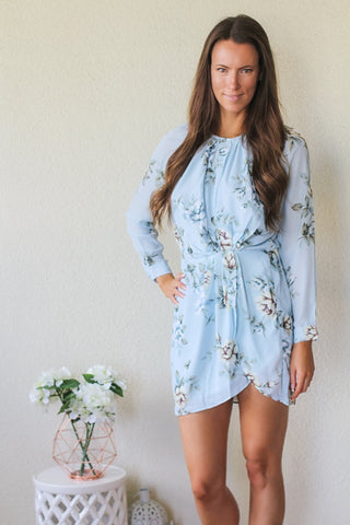 Sammie Light Blue Floral dress