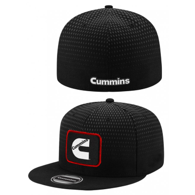 Cummins Black Flat Peak Cap