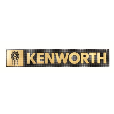 Kenworth Windscreen Decal Black/Gold 736x123mm