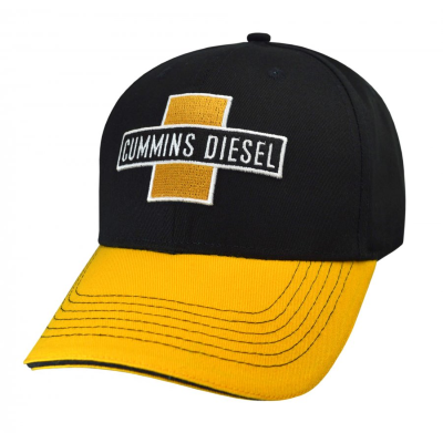 Cummins Diesel Black/Yellow Peak Cap