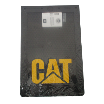 "Cat Black Mudflaps 12x18"" (SINGLE)"