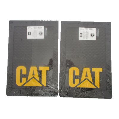 "Cat Black Mudflaps 12x18"" (PAIR)"