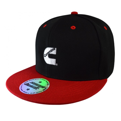 Cummins Black/Red Flat Peak Cap