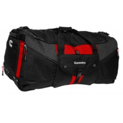 Cummins Black, Red & Grey Duffle Bag