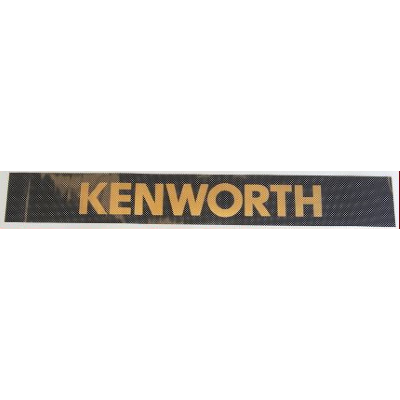 Kenworth Windscreen Decal Black/Gold 2600x145mm