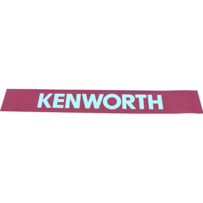Kenworth Windscreen Decal Red/White 2600x145mm