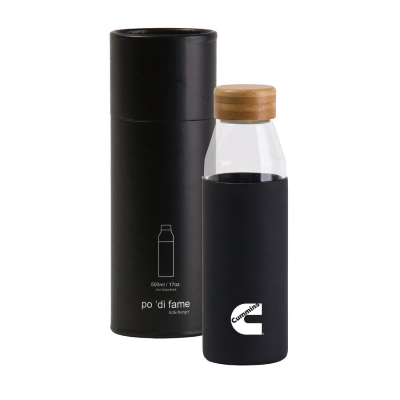 Cummins Orbit Glass Bottle - Black