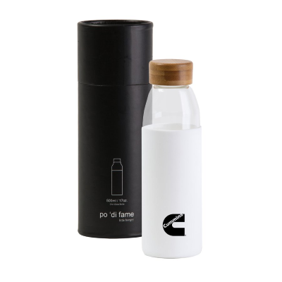 Cummins Orbit Glass Bottle - White