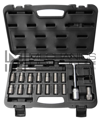 Universal Diesel Injector / Injector Seat Cutter and Reamer Set - 19 Pcs