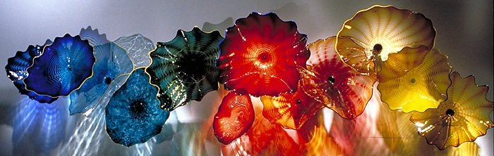 blown glass wall plates