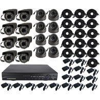 High Definition 16 Channel Surveillance System with 4TB Hard Drive - ICS and Electronics LLC